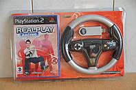 Беспроводной руль для Playstation 2 + диск с игрой RealPlay Racing