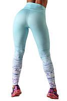 Женские светло голубые лосины для спорта и туризма (компресионные) Blu Active