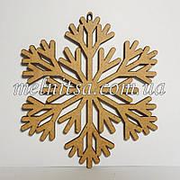 """Заготовка деревянная """"Снежинка 2"""", 10 см, толщина 2,5 мм"""