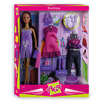 Ася набор с куклой брюнеткой 28 см Бутик