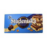 Шоколад Studentska Pecet Mlecno - Bila (Студентка бело - молочная с орехом и изюмом) 180 г. Чехия