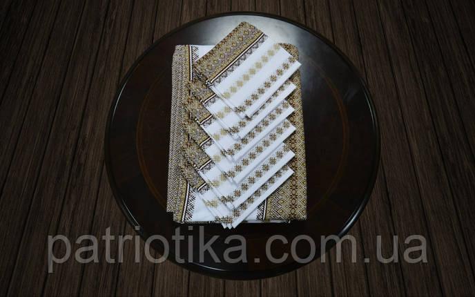 Комплект столовый коричневый | Комплект столовий коричневий 190х140, фото 2