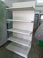 Стеллаж торговый пристенный металлические полки торговые стеллажи б у., фото 1