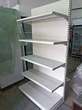 Стелаж торговий пристінний металеві полиці торгові стелажі б., фото 2