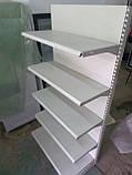 Стелаж торговий пристінний металеві полиці торгові стелажі б., фото 3