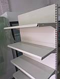 Стелаж торговий пристінний металеві полиці торгові стелажі б., фото 4