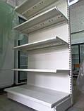 Стелаж торговий пристінний металеві полиці торгові стелажі б., фото 5