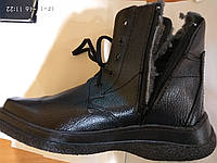 Ботинок утепленный на шнуровке и молнии., фото 1