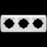Тройная горизонтальная рамка VIKO Carmen белый 90571103