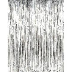 Шторка-завіса з фольги для кенді барів срібло 100 х 300 см