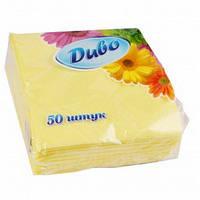 Салфетки  столовые Диво желтые, 50 шт