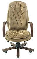 Кресло для руководителя Венеция вуд/экстра к/з Мадрас/Тиффани/Титан/Велюр