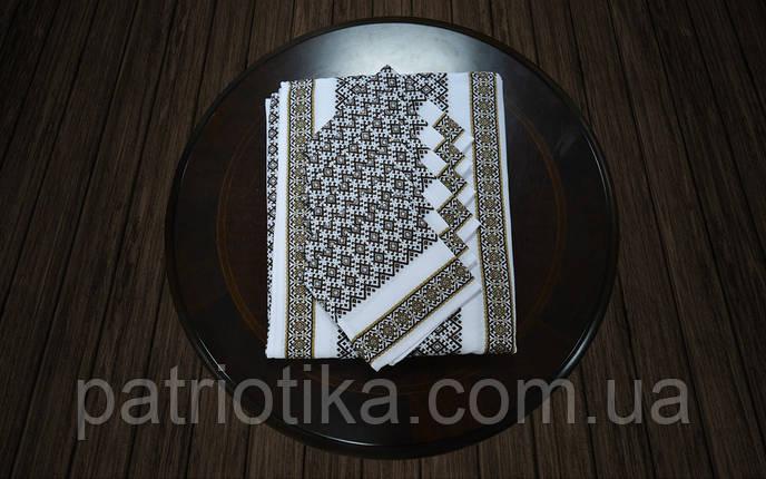 Комплект столовый коричневый | Комплект столовий коричневий 230х140, фото 2
