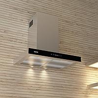 Кухонная вытяжка Eleyus Stels 1000 LED SMD 60 IS+BL нержавеющая сталь черное стекло