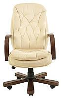 Кресло для руководителя Венеция вуд/экстра Кожа-люкс двухсторонняя
