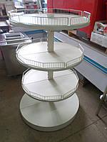 Стеллаж металический круглый, двухсторонний. Стеллажи б у