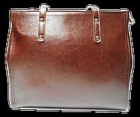 Строгая женская сумка из натуральной кожи коричневого цвета HSS-788855