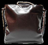 Стильная женская сумка из натуральной кожи коричневого цвета MNN-668864