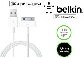Кабель Belkin для зарядки iPhone 3 3GS / 4 4S / iPad 2 / 3  1м