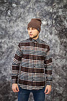 Мужская рубашка зимняя теплая байковая Madoc