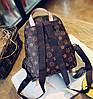 Трендовый коричневый рюкзак в ромбики, фото 4