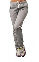 ТЕПЛЫЕ спортивные штаны женские на флисе зимние с начесом светло серые Украина 230-02/1