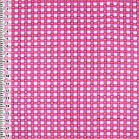 Байка фланель байковая ткань для пеленок детская фланелевая белая в малиновые квадратики ш.105