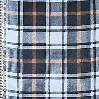 Байка фланель байковая ткань для пеленок детская фланелевая белая в черная оранжевые квадраты ш.105