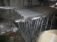 Стеллаж б/у алюминиевый 30 м.п., 2-х уровневый