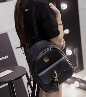 Городской рюкзак для модных девушек с кисточками, фото 2