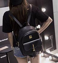 Городской рюкзак для модных девушек с кисточками, фото 3