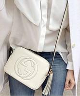 Женская сумка в стиле GUCCI SOHO DISCO WHITE BAG (3390), фото 1