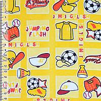 Байка фланель байковая ткань для пеленок детская фланелевая желтая чемпион ш.110