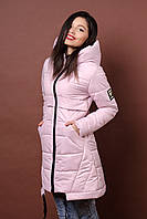 Зимняя женская молодежная куртка. Код К-80-36-17. Цвет пудра.