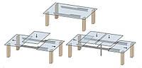 Механизм для раздвижного стола, трёхсекционный TL-24