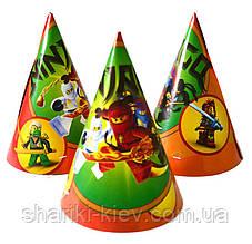 Колпаки средние Ниндзяго на День рождения
