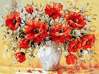 Картины по номерам 40×50 см. Букет маков худ. Антонио Джанильятти