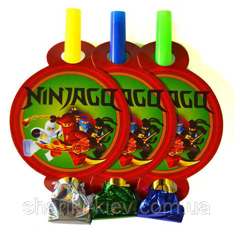 Набор гудков язычков 6 шт.  Ниндзяго на День рождения , фото 2