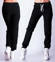 ТЕПЛЫЕ спортивные штаны женские на флисе зимние с начесом черные Украина 230-01/1