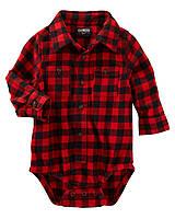 Яркая детская рубашка для мальчика  с длинным рукавом