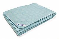 Одеяло шерстяное стеганное облегченное Комфорт 140х205 см голубое