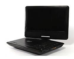 Портативный DVD проигрыватель 999, ТВ тюнер, пульт управления, 3D просмотр, игры, 175х235х40 мм