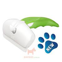 Дешеддер для удаления линяющей шерсти собак и кошек, ширина картриджа 9,5 см Large (Фоли Изи) FoOlee Easee (зеленый)