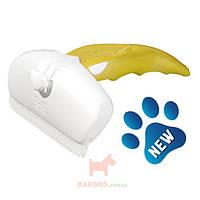 Дешеддер для удаления линяющей шерсти собак и кошек, ширина картриджа 9,5 см Large (Фоли Изи) FoOlee Easee (желтый)