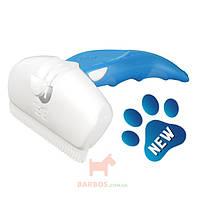 Дешеддер для удаления линяющей шерсти собак и кошек, ширина картриджа 9,5 см Large (Фоли Изи) FoOlee Easee (синий)