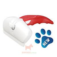 Дешеддер для удаления линяющей шерсти собак и кошек, ширина картриджа 9,5 см Large (Фоли Изи) FoOlee Easee (красный)