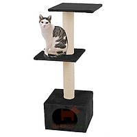 Когтеточки игровой комплекс для кошек, 2 уровня Smaragd Black (Карли-Фламинго) Karlie Flamingo