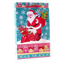 Подарочный пакет новогодний 11-02-1134 (26,5 х 16,5 х 7 см)