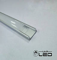 Профиль накладной для светодиодной ленты, 1м