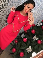 Трикотажное платье с утяжкой